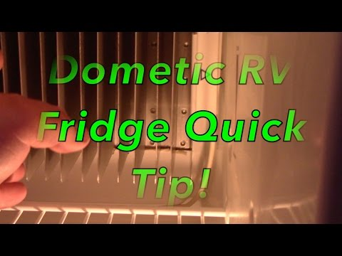 Dometic RV Fridge Quick Tip!