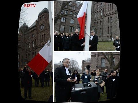 Malta Republic flag raising ceremony at Queen's Park in Toronto