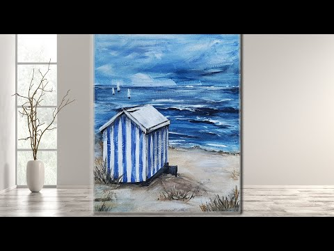 Beach House STEP by STEP/Acrylic Painting/ MariaArtHome