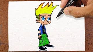Como Desenhar o Johnny Test, How to Draw