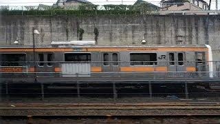 """2017/06/25 【車窓】 ホリデー快速鎌倉号 185系 B6編成   JR East Window View: """"Holiday Rapid Kamakura"""""""