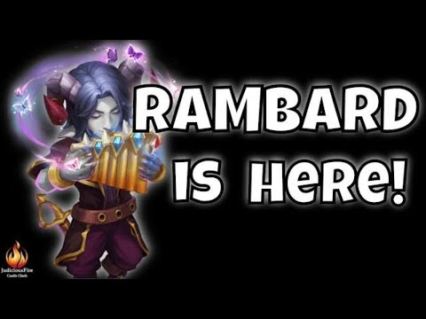 RAMBARD Castle Clash New Hero Full Setup How To Build