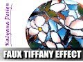 Faux Tiffany + faux stained glass - polymer clay tutorial 020