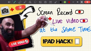 How to Record iPad Camera and Screen at the Same Time Educational Video Tutorial Pro 2020