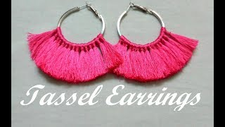 How to make tassel earrings at home//Handmade Jewellery//Step by step//Tutorial//Creation&you