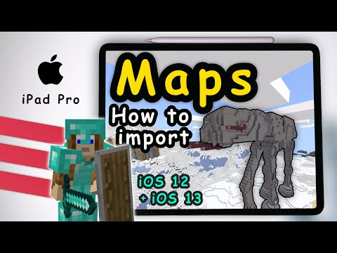 How To Add Free Maps / Worlds In Minecraft For IOS 12 + IOS 13 On Apple IPad Pro
