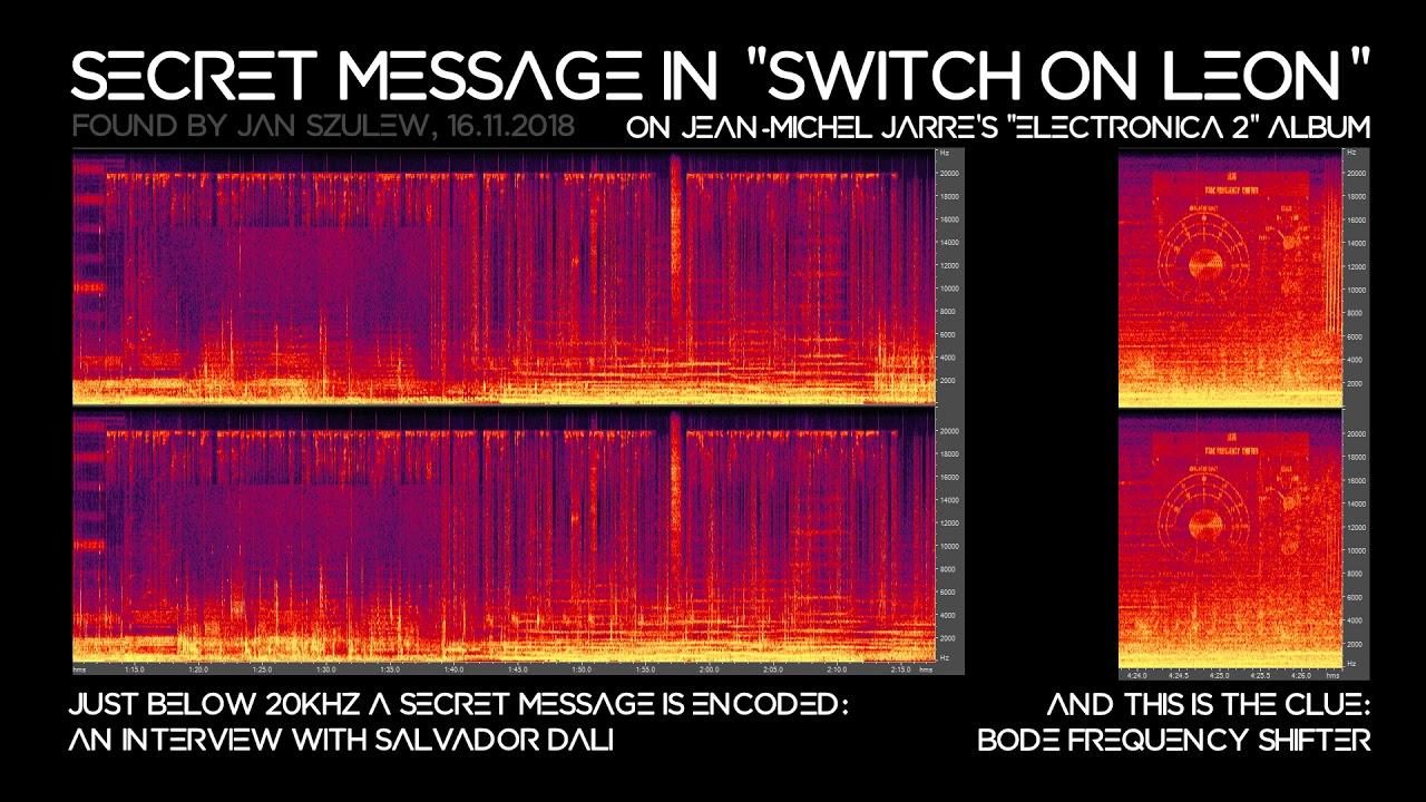 """Secret message in Jean-Michel Jarre's """"Switch on Leon"""""""