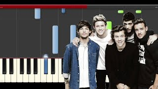 One Direction Once in a Lifetime piano tutorial midi sheet partitura