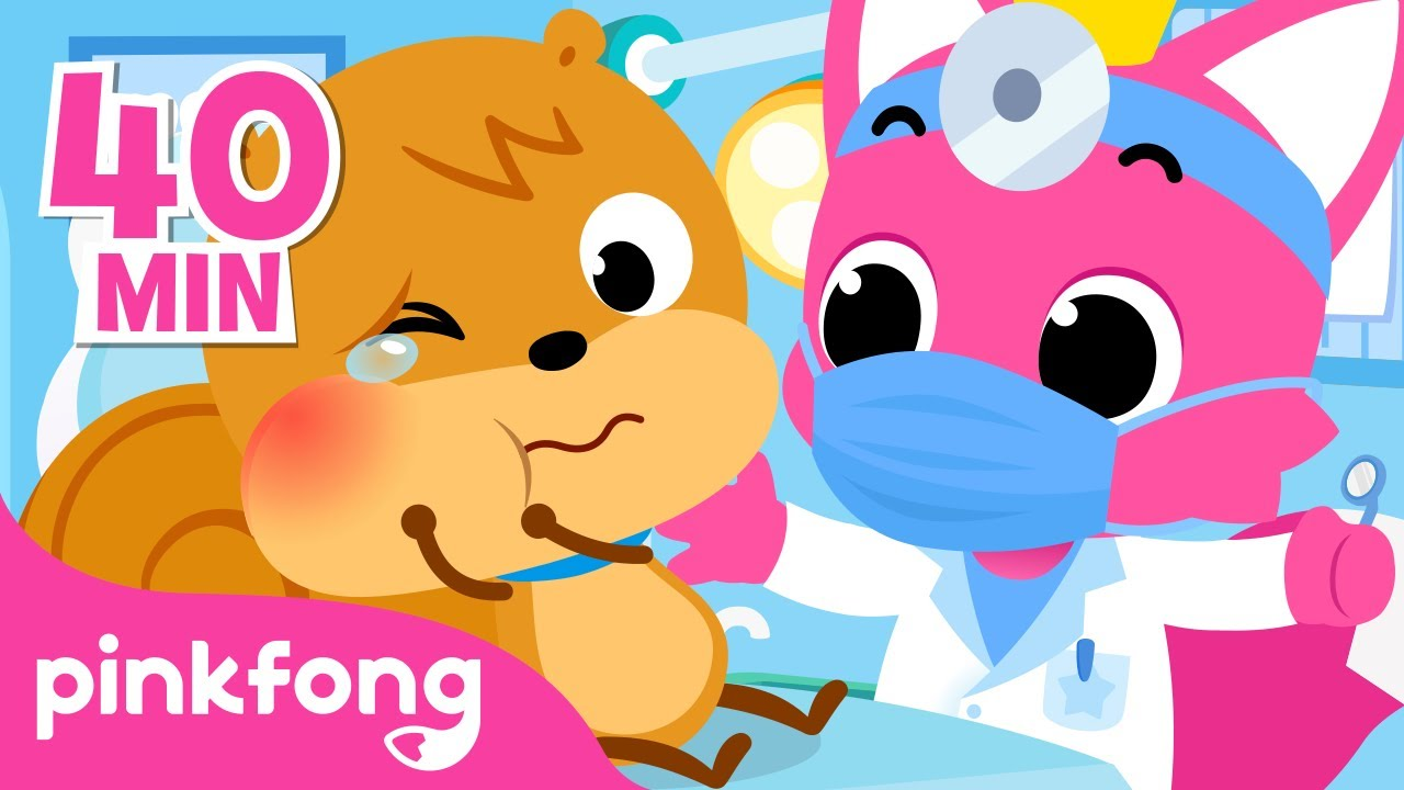 I Have a Toothache!🦷 😭   Hospital Play   +Compilation   Pinkfong Songs for Children