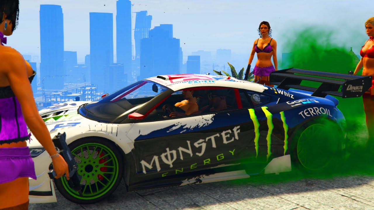 Monster Energy Car Gta Mods Youtube