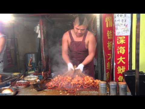 Super Grilled Squid Dance @ Tiantong Road