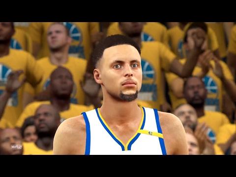 【NBA 2K17】ゲームでもカリーはチートなのか?ウォリアーズ vs ジャズ【PS4】
