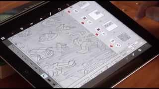 SketchUp to iPad to Flash for comics.