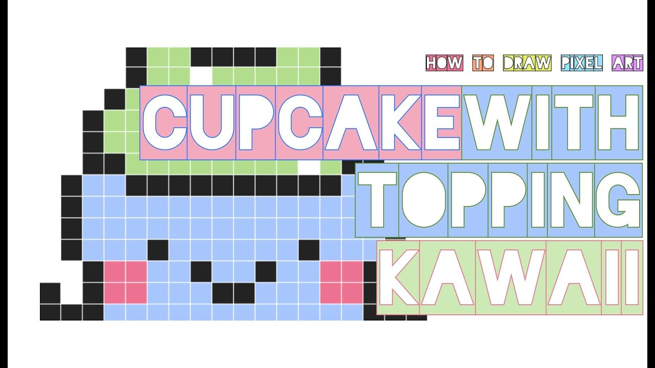 How To Draw Cute Cupcake With Topping Kawaii Easy Robot Dance Doodle Pixel Art Perler Beads