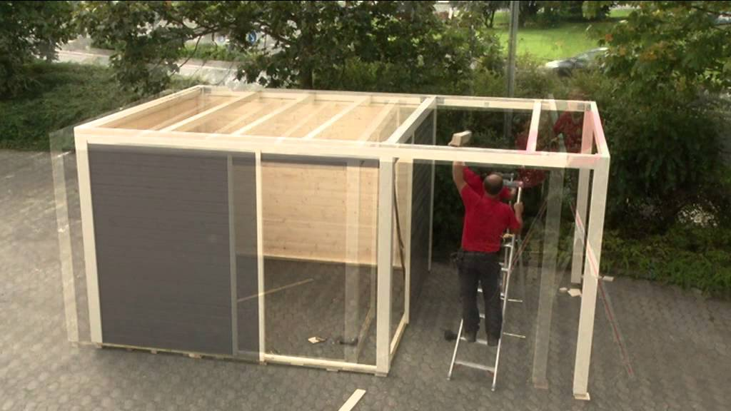 karibu gartenhaus cubus montage youtube. Black Bedroom Furniture Sets. Home Design Ideas