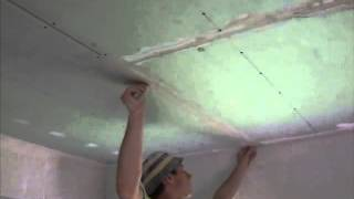 видео как шпаклевать гипсокартон под покраску
