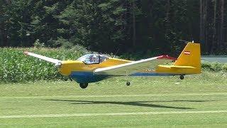 Scheibe SF-25 C Falke takeoff at Airfield Nötsch | OE-9435