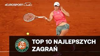 IGA ŚWIĄTEK - Top 10 najlepszych zagrań w meczu 4. rundy   Roland Garros
