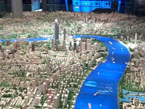 Shanghai scale model city plan growth