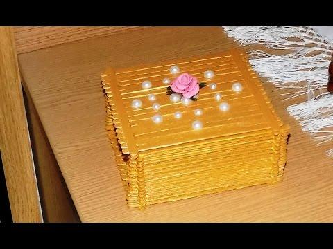 Как сделать коробочку для украшений своими руками