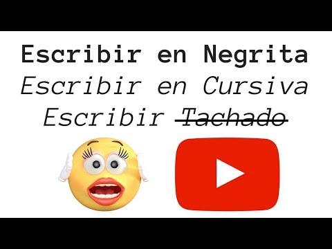 Como Poner Negrita, Cursiva O Tachar En Los Comentarios De YouTube