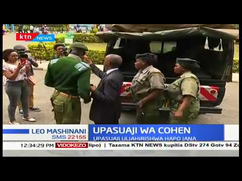 Sarah Wairimu arrives at Chiromo for the autopsy of her slain husband Tob Cohen