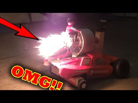 😂EPIC FAIL! RC Car Jet Engine FIRE!!! Haynes Build Your Own Jet Turbine