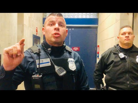 Amtrak Station : YOURE BREAKING THE LAW!!! WALK OF SHAME!!! - 1st amendment audit FAIL