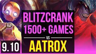 BLITZCRANK vs AATROX (MID) | 1500+ games, 2 early solo kills, KDA 8/0/2 | EUW Diamond | v9.10