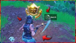 """Follow the treasure map found in Flush Factory"" AND SECRET STAR LOCATION FORTNITE SEASON 5"