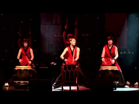 Kagemusha Junior Taiko Drummers performing live at the NextBRITthing grand final