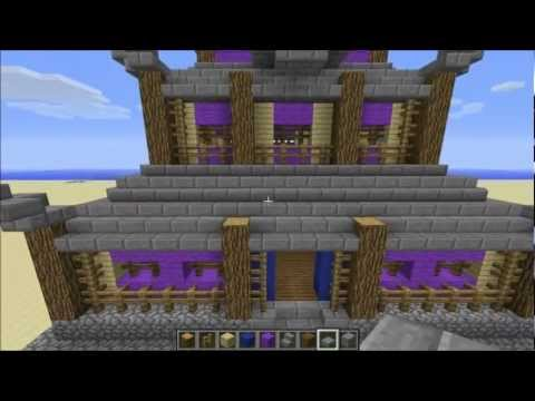 Minecraft Tutorial - Supreme Class Asian Style House (Japanese Castle)