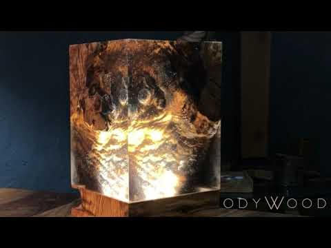 ADEN Epoxy Resin Night Lamp / Olive Wood Desk Lamp - ODYWOOD