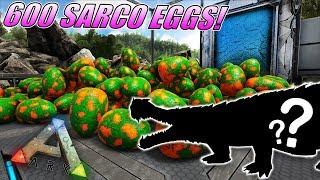 600 SARCO EGGS! ARK SARCO BREEDING AND MUTATIONS! Ark Survival Evolved Mutation Zoo