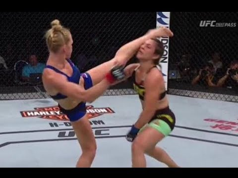 Holly Holm TKO's Correia with a Question mark kick