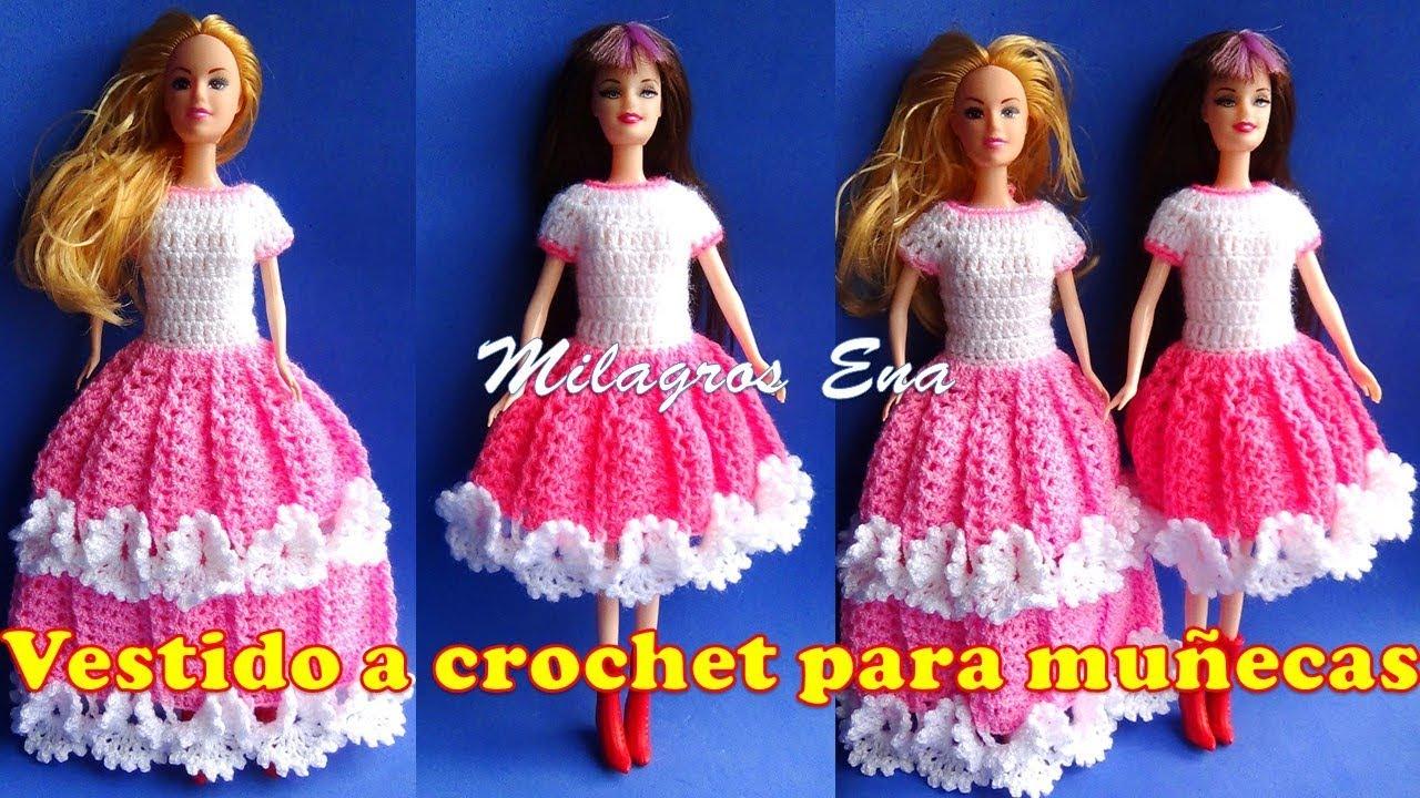 Vestido Tejido A Crochet Para Muñecas Paso A Paso Ropa Para Muñecas