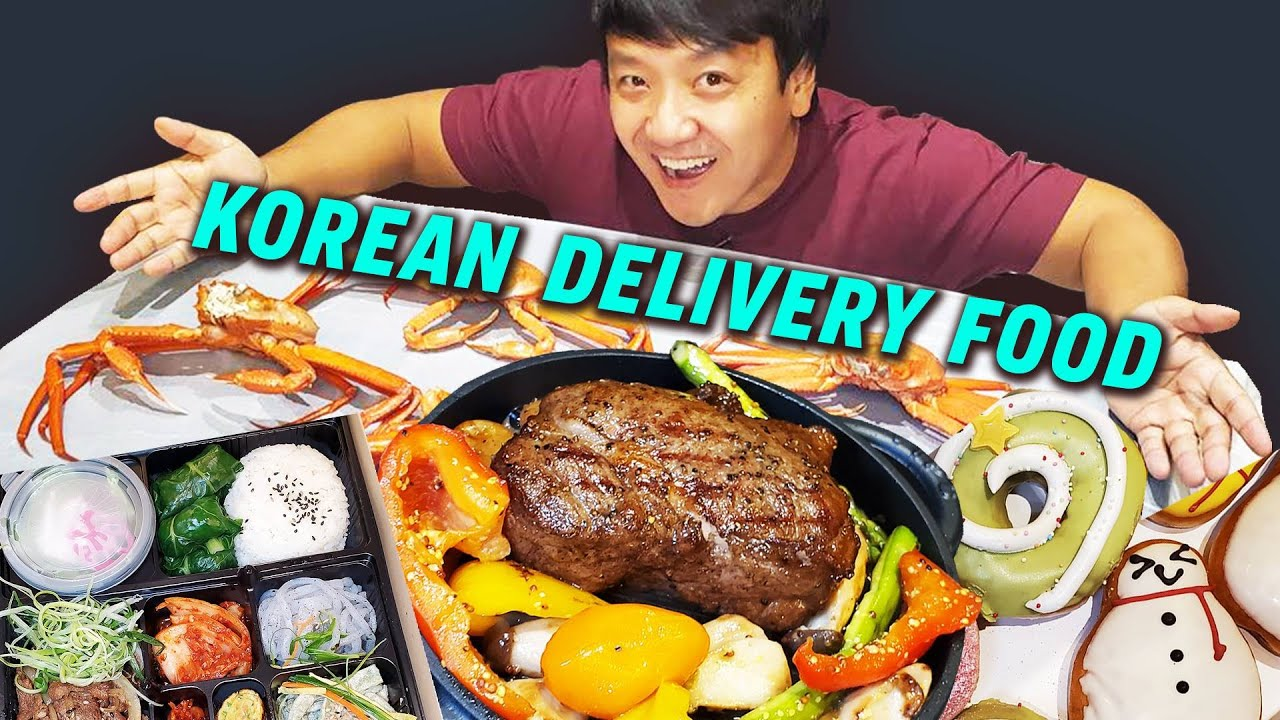 MUST TRY Korean DELIVERY FOODS! SNOW CRAB & Steak! How to Order Delivery Foods in South Korea Part 2