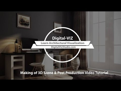 Small Workplace Making of 3D Scene & Post Production