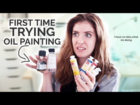 Trying OIL PAINTING for the FIRST TIME!?