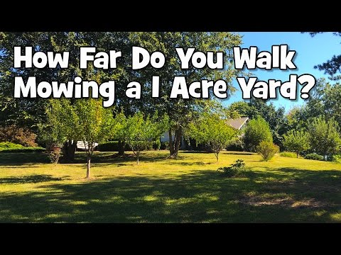 How Far You Might Walk Mowing a 1 Acre Yard