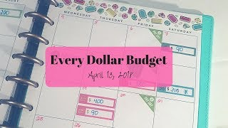 Every Dollar Budget | April 13 | Paying Off Debt | Saving for a House | What do I do with my Money?