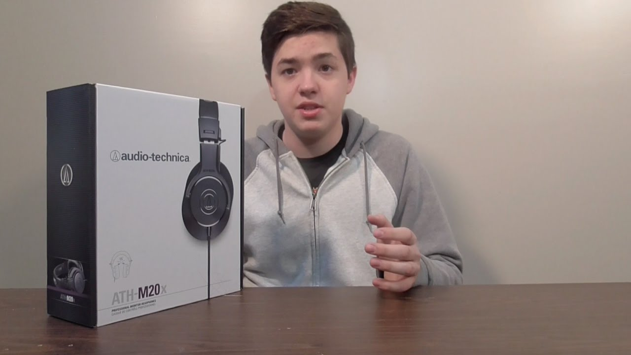 Audio Technica Ath M20x Professional Headphones Unboxing Youtube Black