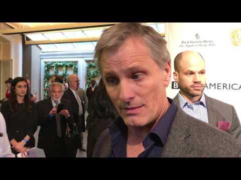 Viggo Mortensen ('Captain Fantastic') on the 2017 BAFTA tea party red carpet
