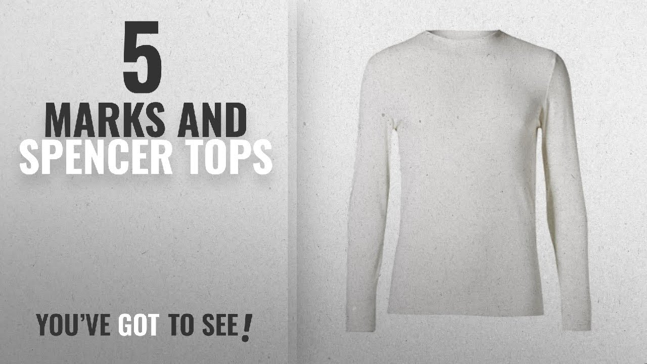 2da7cc5e0036 Top 10 Marks And Spencer Tops [2018]: Marks and Spencer Ex M&S Mens Heatgen  Thermal Long Sleeve