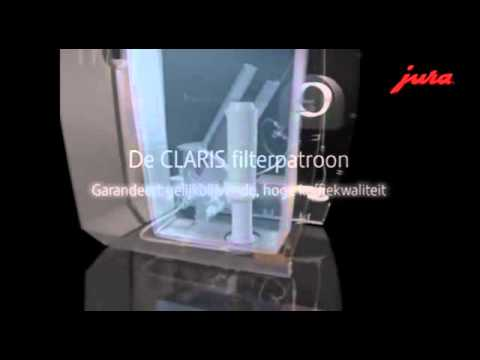 jura claris waterfilter blue en white youtube. Black Bedroom Furniture Sets. Home Design Ideas