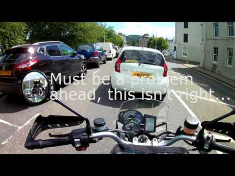 To Glenshee on a BMW R1200r - Perth traffic chaos!