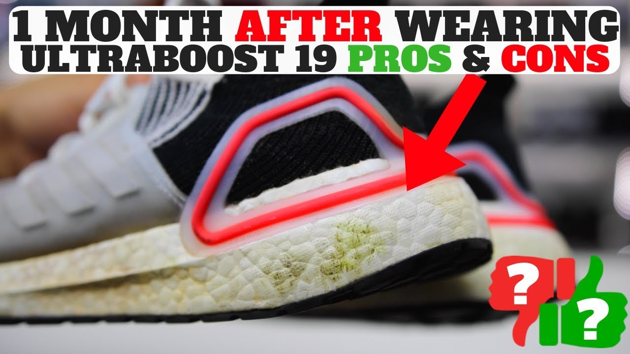 c164f260343 1 MONTH AFTER WEARING ADIDAS ULTRABOOST 19 PROS   CONS - YouTube