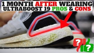 1 MONTH AFTER WEARING ADIDAS ULTRABOOST 19 PROS & CONS