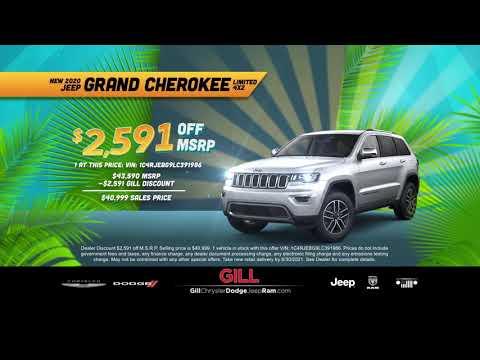 Gill Chrysler Dodge Jeep Ram Summer R.I.D.E. Sales Event