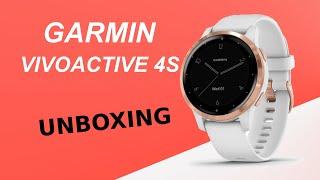 Garmin Vivoactive 4S White/Rose Gold Unboxing HD (010-02172-24)